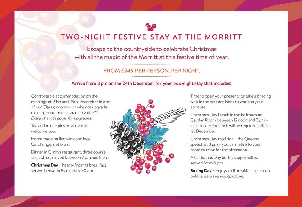 morritt christmas events 2 night stay
